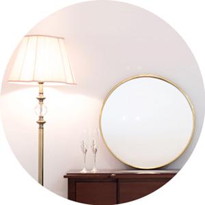 리안 골드 원형 거울(스테인레스 프레임)-BT