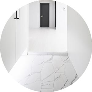 CINCA 240X490 1box 12장 무광 육각 발코니 욕실 상가 벽 바닥 포세린 비앙코 마블타일
